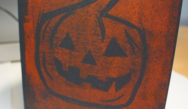 Make a Pumpkin Lino Print – A step by step guide
