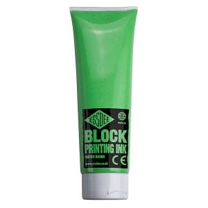 Essdee Block Printing Ink 300ml - Fluorescent GREEN