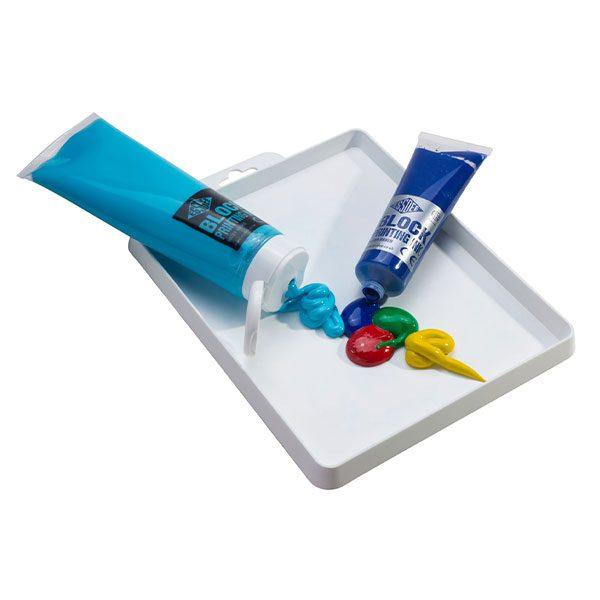 Essdee Block Colour Printing Ink 300ml METALLIC SILVER