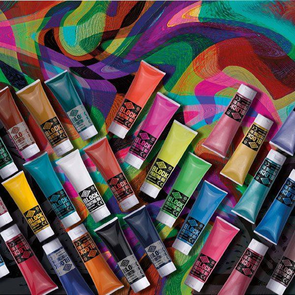 Essdee Block Standard Colour Printing Ink 300ml BRILLIANT BLUE