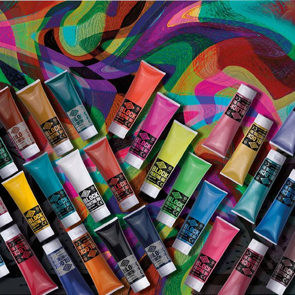 Essdee Block Standard Colour Printing Ink 300ml BLACK
