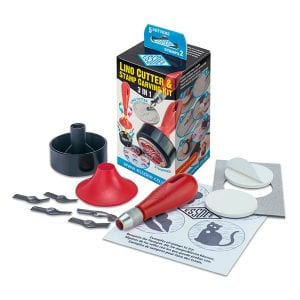 Essdee Stamp Carving Kits - 5 Cutters & 2 Stamps