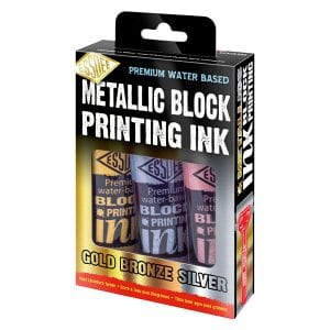 Essdee Metallic Block Printing Ink 3 Pack