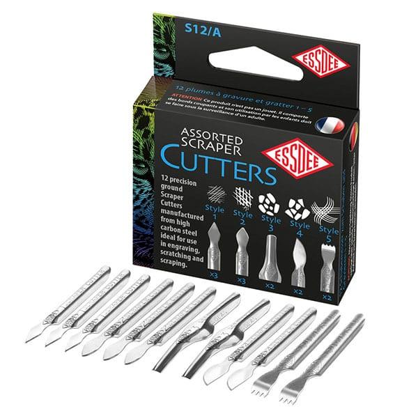 Essdee 5 Assorted Scraper Cutters Box of 12